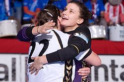 Dragana Cvijic and Andrea Lekic of Krim at handball match of Round 5 of Champions League between RK Krim Mercator and Metz Handball, France, on January 9, 2010 in Kodeljevo, Ljubljana, Slovenia. (Photo by Vid Ponikvar / Sportida)