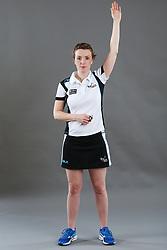 Umpire Louise Travis signalling goal scored