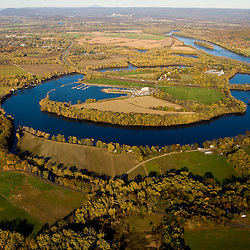 The Oxbow on the Connecticut River in Easthampton, Massachusetts.