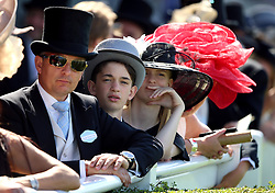 Racegoers trackside during day four of Royal Ascot at Ascot Racecourse