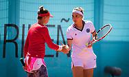 Elena Vesnina and Vera Zvonareva of Russia playing doubles at the Mutua Madrid Open 2021, Masters 1000 tennis tournament on May 4, 2021 at La Caja Magica in Madrid, Spain - Photo Rob Prange / Spain ProSportsImages / DPPI / ProSportsImages / DPPI