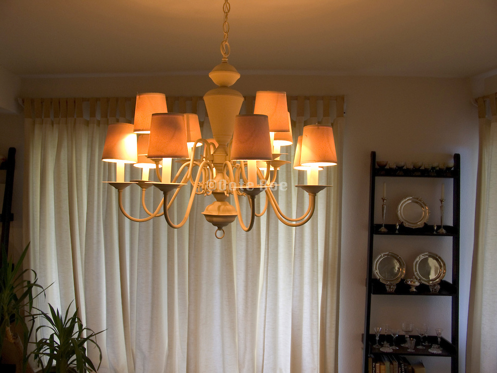 chandelier with lights on during daytime