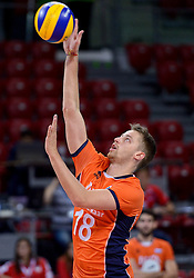 Robbert Andringa #18 during volleyball match between National teams of Netherlands and Slovenia in Playoff of 2015 CEV Volleyball European Championship - Men, on October 13, 2015 in Arena Armeec, Sofia, Bulgaria. Photo by Ronald Hoogendoorn / Sportida