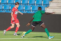 Dalton Wilkins (FC Helsingør) under træningskampen mellem FC Helsingør og Næstved Boldklub den 19. august 2020 på Helsingør Stadion (Foto: Claus Birch).