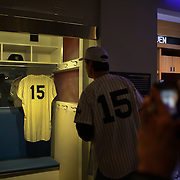 Thurman Munson's locker on display inside the Yankee Museum at Yankee Stadium before the New York Yankees V Cincinnati Reds Baseball game at Yankee Stadium, The Bronx, New York. 19th May 2012. Photo Tim Clayton