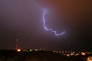 Lightning storm Photographed in Israel in March