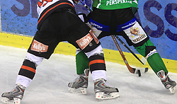 39th Round of EBEL League ice hockey match between HDD Tilia Olimpija and HK Acroni Jesenice, on December 30, 2008, in Arena Tivoli, Ljubljana, Slovenia. Tilia Olimpija won 4:3. (Photo by Vid Ponikvar / SportIda).