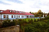 18-09-2015: Golf & Spa Resort Konopiste in Benesov, Tsjechië.<br /> Foto: Het Spa & Welness gebouw