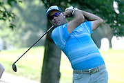 ST. LOUIS, MO - AUGUST 09: Stewart Cinc hits his shot on the #11 tee during the first round of the PGA Championship on August 09, 2018, at Bellerive Country Club, St. Louis, MO.  (Photo by Keith Gillett/Icon Sportswire)