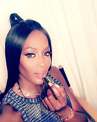 """Naomi Campbell releases a photo on Instagram with the following caption: """"#Repost @patmcgrathreal\n\u30fb\u30fb\u30fb\nNAOMAJESTIC \u26a1\u26a1\u26a1 LOVE LOVE LOVING the iconic @iamnaomicampbell looking BEYOND GORGEOUS in her signature LUST: #MatteTrance Lipstick Shade OMI! \u26a1\u26a1\u26a1 #patmcgrathlabs #LUSTMatteTrance Premieres July 2017 on PATMcGRATH.COM"""". Photo Credit: Instagram *** No USA Distribution *** For Editorial Use Only *** Not to be Published in Books or Photo Books ***  Please note: Fees charged by the agency are for the agency's services only, and do not, nor are they intended to, convey to the user any ownership of Copyright or License in the material. The agency does not claim any ownership including but not limited to Copyright or License in the attached material. By publishing this material you expressly agree to indemnify and to hold the agency and its directors, shareholders and employees harmless from any loss, claims, damages, demands, expenses (including legal fees), or any causes of action or allegation against the agency arising out of or connected in any way with publication of the material."""