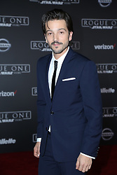 Celebrity arrivals at the world premiere of Walt Disney Pictures and Lucasfilm's 'Rogue One: A Star Wars Story' at the Pantages Theatre in Hollywood, California. 11 Dec 2016 Pictured: Diego Luna. Photo credit: @parisamichelle / MEGA TheMegaAgency.com +1 888 505 6342