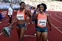 Friidrett ,  11. juni 2015 , Diamond League , Bislett Games , Oslo<br />  Atheltics<br /> <br /> Jasmin Ttowers , USA<br /> Brianna Rollins , USA<br /> 100 m hurdles<br /> 100 m hekk