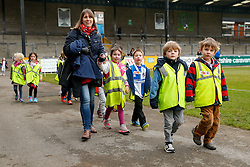 Local school children walk a charity Mile around the Memorial Stadium pitch at Bristol Rovers in aid of Sport Relief - Mandatory byline: Rogan Thomson/JMP - 18/03/2016 - FOOTBALL - Memorial Stadium - Bristol, England - Bristol Rovers Sport Relief Mile.