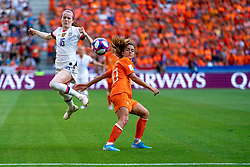 07-07-2019 FRA: Final USA - Netherlands, Lyon<br /> FIFA Women's World Cup France final match between United States of America and Netherlands at Parc Olympique Lyonnais. USA won 2-0 / Rose Lavelle #16 of the United States, Daniëlle van de Donk #10 of the Netherlands