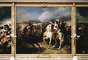 'Battle of Lens' ,  28 August 1648. Louis II de Bourbon, Prince de Conde (1621-1686), Grand Conde, defeated the Spanish. Jean Pierre Franque (1774-1802) French historical painter, Galerie des Batailles, Versailles.