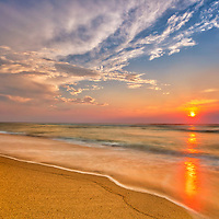 Cape Cod seascape photography of a Cape Cod National Seashore sunrise at Newcomb Hollow Beach in Wellfleet, Massachusetts.<br /> <br /> Beautiful Cape Cod seascape photography pictures of Newcomb Hollow Beach are available as museum quality photography prints, canvas prints, acrylic prints, wood prints or metal prints. Fine art prints may be framed and matted to the individual liking and interior design decorating needs.<br /> <br /> Good light and happy photo making!<br /> <br /> My best,<br /> <br /> Juergen