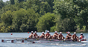 Henley. Berks, United Kingdom. <br /> <br /> Worcester Polytechnic USA. during their heat at the 2017 Henley' Women's Regatta. Rowing on, Henley Reach. River Thames. <br /> <br /> <br /> Saturday  17/06/2017<br /> <br /> <br /> [Mandatory Credit Peter SPURRIER/Intersport Images]