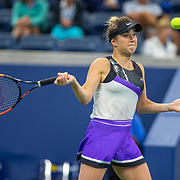 2019 US Open Tennis Tournament- Day Three. Elina Svitolina of the Ukraine in action against Venus Williams of the United States in the Women's Singles Round Two match on Louis Armstrong Stadium at the 2019 US Open Tennis Tournament at the USTA Billie Jean King National Tennis Center on August 27th, 2019 in Flushing, Queens, New York City.  (Photo by Tim Clayton/Corbis via Getty Images)