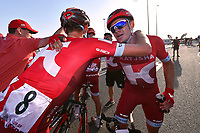 Arrival, KRISTOFF Alexander (NOR), POLITT Nils (GER) joy team Katusha,  during the 15th Tour of Qatar 2016, Stage 4, Al Zubarah Fort - Madinat Al Shamal (189Km), on February 11, 2016 - Photo Tim de Waele / DPPI