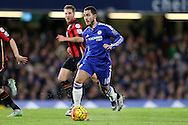 Eden Hazard of Chelsea in action. Barclays Premier league match, Chelsea v AFC Bournemouth at Stamford Bridge in London on Saturday 5th December 2015.<br /> pic by John Patrick Fletcher, Andrew Orchard sports photography.