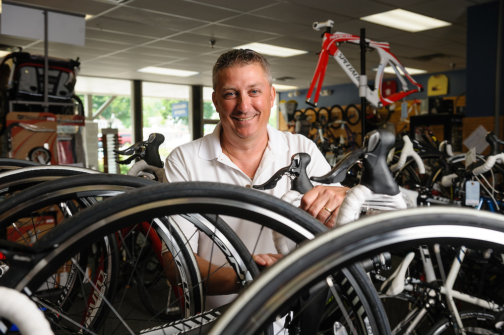 Dave Endy, owner of Steiner Sports in Glenmount, NY. Case study for National Grid energy efficient upgrades.