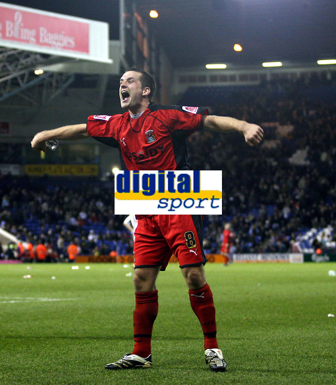 Photo: Mark Stephenson/Sportsbeat Images.<br /> West Bromwich Albion v Coventry City. Coca Cola Championship. 04/12/2007.Coventry's  Michael Doyle celebrates Michael Mifsuds goal for 4-2