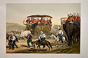 Troops hastening to Umballa [Ambala, Haryana, on the border of Punjab India] Lithograph from the book Campaign in India 1857-58 Illustrating the military operations before Delhi ; 26 Hand coloured Lithographed plates. by George Francklin Atkinson Published by Day & Son Lithographers to the Queen in 1859