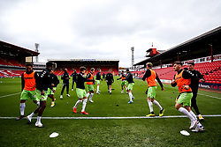 Bristol City warm up at Barnsley - Mandatory by-line: Robbie Stephenson/JMP - 17/10/2020 - FOOTBALL - Oakwell Stadium - Barnsley, England - Barnsley v Bristol City - Sky Bet Championship