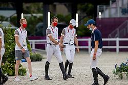 Devos Pieter, BEL, Wathelet Gregory, BEL, Bruynseels Niels, BEL<br /> Olympic Games Tokyo 2021<br /> © Hippo Foto - Dirk Caremans<br /> 07/08/2021