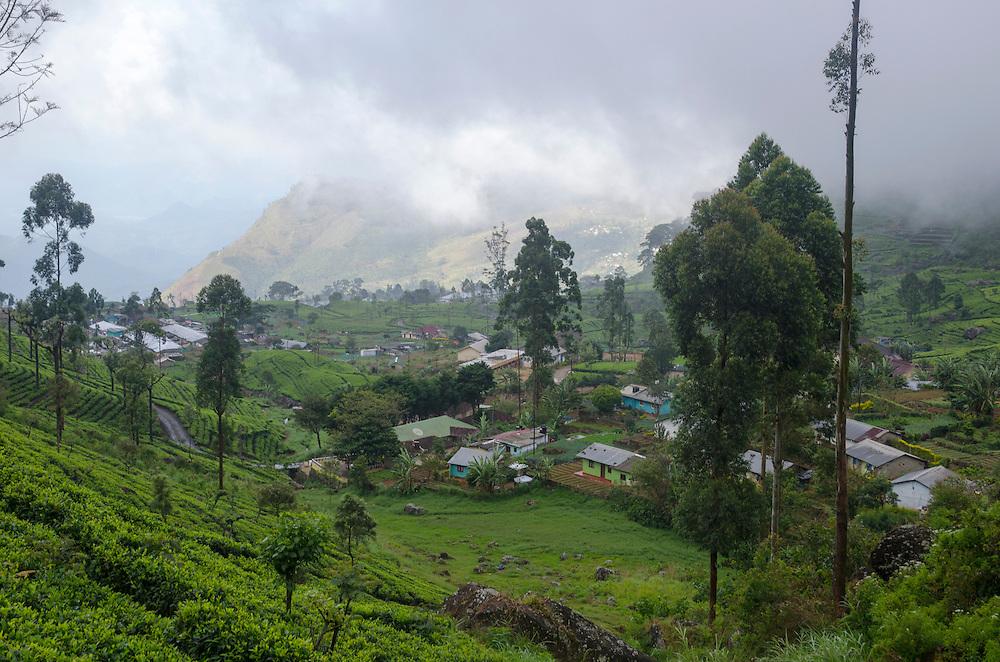 View of Dambatenne village, Southern Highlands, Sri Lanka
