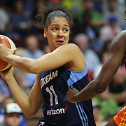 UNCASVILLE, CONNECTICUT- JUNE 3:   Cierra Burdick #11 of the Atlanta Dream in action during the Atlanta Dream Vs Connecticut Sun, WNBA regular season game at Mohegan Sun Arena on June 3, 2016 in Uncasville, Connecticut. (Photo by Tim Clayton/Corbis via Getty Images)