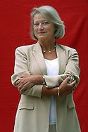 British broadcaster and veteran war corrspondent for the BBC, Kate Adie, pictured at the Edinburgh International Book Festival where she discussed her recent book entitled 'From Corsets to Camouflage' about women's role in the armed forces. The Book Festival is the world's biggest literary festival with appearances by over 500 authors from across the world.
