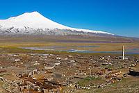Turquie. Anatolie de l'Est. Mont Ararat ou Agri Dagi (5165 m d'altitude)// Turkey. East Anatolia Province. Ararat mountain or Agri Dagi at 5165 m of altitude.