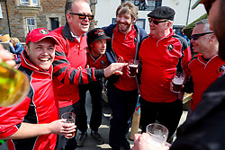 Embargoed to 0001 Monday August 28 Players from the Eccentric Flamingoes Cricket Club before their match against the Ship Inn Cricket Club on Sunday April 30th, 2017, in front of the pub in Elie, Fife, which is the only one in Britain to have a cricket team with a pitch on the beach. The Ship Inn Cricket Club season runs from May to September with dates of matches dependent on the tides. Any Batsman who hits a six which lands in the Ship Inn beer garden wins their height in beer and any spectator who catches a six in the beer garden also wins their height in beer.