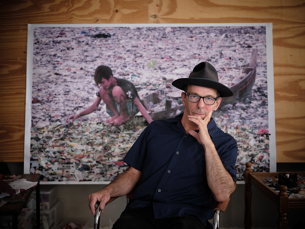 Germany, Berlin, 2020/09/21<br /> <br /> Artist Dodi Reifenberg in his studio/apartment  in Berlin. <br /> <br /> The art of Dodi Reifenberg takes its starting point from one of the most banal materials of consumption, the simple throwaway plastic bag.21/09/2020 (Photo by Gregor Zielke)