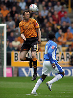 Photo: Paul Thomas.<br /> Wolverhampton Wanderers v Birmingham City. Coca Cola Championship. 22/04/2007.<br /> <br /> Gary Breen of Wolves climbs above Andy Cole to win the header.