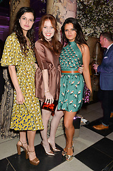 Left to right, EVANGELINE LING, ANGELA SCANLON and BIP LING at a VIP preview of the V&A's new exhibition 'The Glamour of Italian Fashion' - a comprehensive look at Italian Fashion from 1945-2014 held at The Victoria & Albert Museum, London on 2nd April 2014.