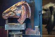 Nic Fiddian-Green (sculptor of monumental neo-classical horses heads) sets up his iron foundry in Bruton Place, Mayfair to demonstrate the ancient art of 'lost wax' casting and also hand patinating.  He also has a new solo show at Sladmore Contemporary from 10th June until 31st July 2015. The exhibition will include a recreation of the artist's hilltop surrey studio and workshop,  with new work in  progress.