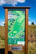 19-09-2015: Albatross Golfresort in Vysoky Ujezd, Tsjechië.<br /> Foto: Holebord hole 2