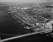 """Ackroyd 13189-1. """"Dock Commission. 30 acres between St Johns bridge and T4. March 18, 1965"""" (MarCom, Floating Marine Ways, Terminal 4)"""