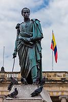 Bolivar plaza in La Candelaria aera Bogota capital city of Colombia South America