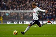Christian Eriksen of Tottenham Hotspur takes a free kick. Premier league match, Tottenham Hotspur v Arsenal at Wembley Stadium in London on Saturday 10th February 2018.<br /> pic by Steffan Bowen, Andrew Orchard sports photography.