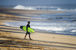 December 16, 2017 - Banzai Pipeline, HI, USA - BANZAI PIPELINE, HI - DECEMBER 16, 2017 - John John Florence of Hawaii walks to Off The Wall from his house for a free surfing session before the start of the Billabong Pipe Masters Saturday. (Credit Image: © Erich Schlegel via ZUMA Wire)