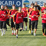 Galatasaray's players during their training session at the Jupp Derwall training center, Thursday, January 20, 2011. Photo by TURKPIX