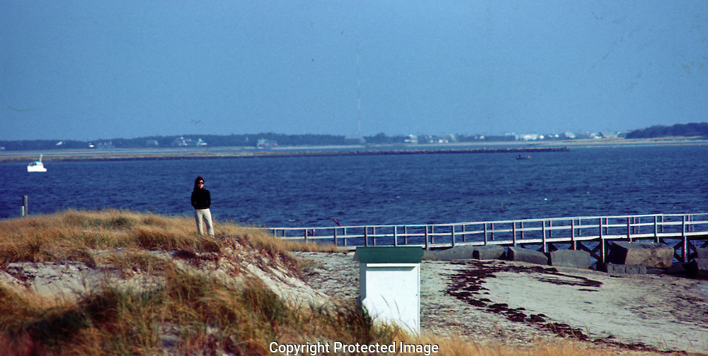 A 29.5 MG IMAGE OF:..Jackie Kennedy at the Kennedy Hyannisport compound the day bvefore the funeral of .Joseph Kennedy 11/19/69.Photo by Dennis brack B 6