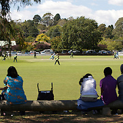 Spectators watch from the boundary line as India and Pakistan compete in the first match of group B of the ICC Women's World Cup Cricket  at the picturesque setting of Bradman Oval, Bowral in the New South Wales Southern Highlands, Australia on March 7, 2009. Pakistan were bowled out for 57 while Indian won the match reaching 58 without loss. Photo Tim Clayton