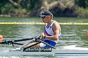 2005, World Rowing Championships, Nagaragawa International Regatta Course, Gifu, JAPAN: Monday  29.08.2005. SLO M2X Bow - Luka Spik.  © Peter Spurrier/Intersport Images - email images@intersport-images.com