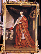 Armand Jean Duplessis, Duc de Richelieu (1585-1642), Cardinal Richelieu. French prelate and statesman. Cardinal 1624.  Minister of State to Louis XIII  and de facto ruler of France from 1629. Full length portrait by  Philippe de Champagne (1642-1674), French painter. Sorbonne,  Paris.