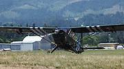 Stinson L-5 Sentinel taxiing  at WAAAM.