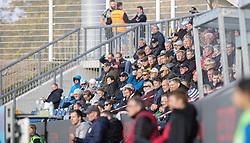Tilskuere under kampen i 1. Division mellem FC Helsingør og Kolding IF den 24. oktober 2020 på Helsingør Stadion (Foto: Claus Birch).